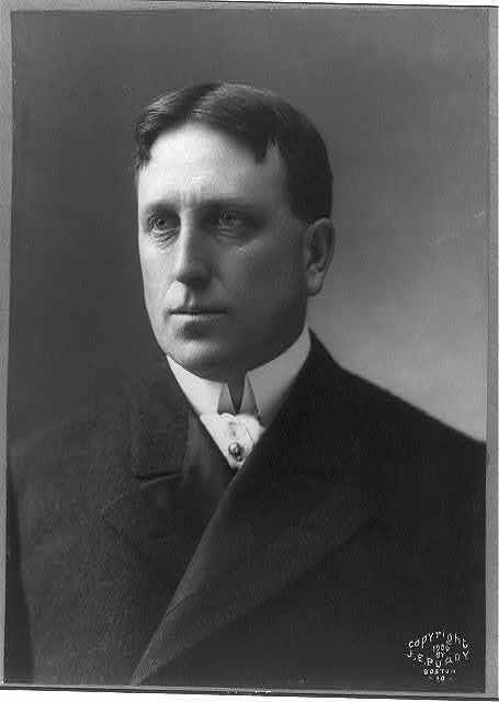[William Randolph Hearst, 1863-1951, bust portrait, facing left]