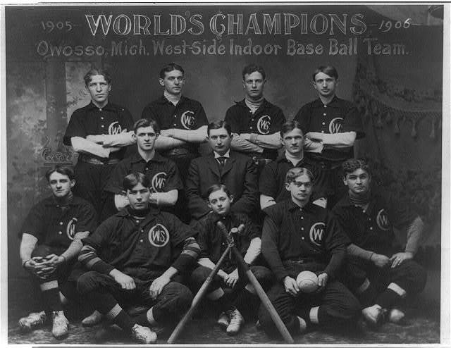 World's champions, 1905-1906, Owosso, Mich., West-side indoor base ball team