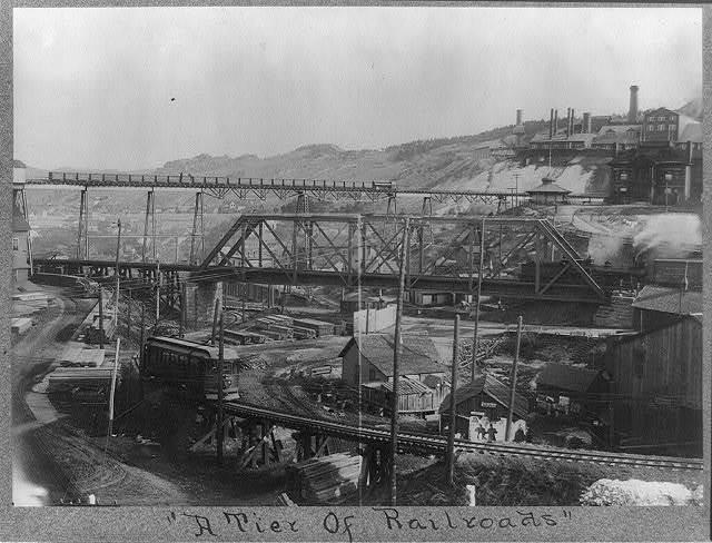 A tier of railroads