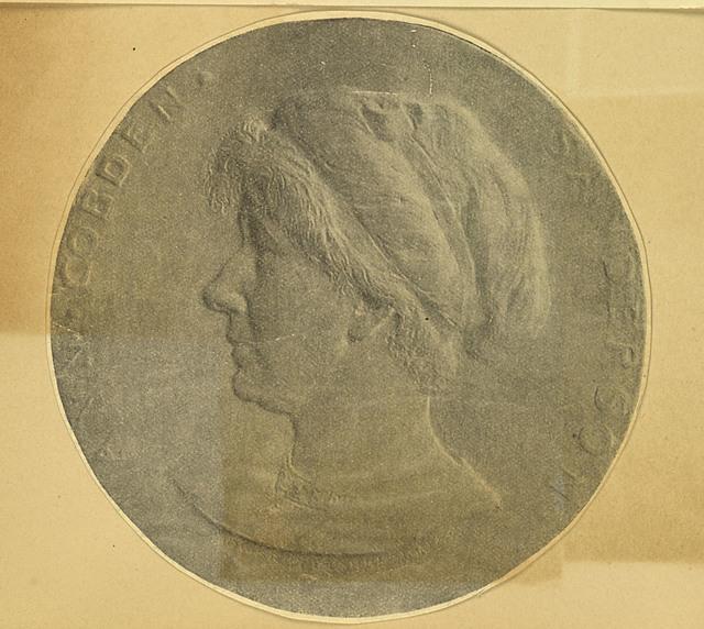 Anne Cobden Sanderson, portrait medallion