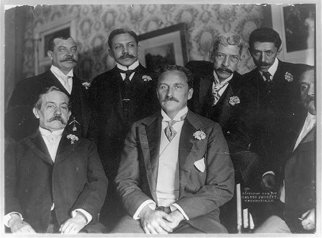 [Assistant Secretary of State Robert Bacon and diplomats] / photo by Waldon Fawcett.