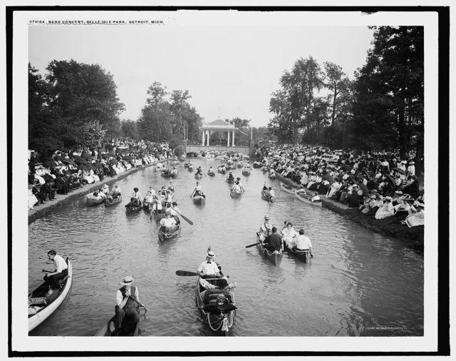 Band concert, Belle Isle Park, Detroit, Mich.