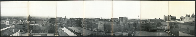 [Bird's eye view of the business section of Salt Lake City]