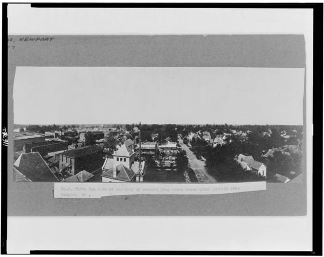 Bird's-eye view of the city of Newport from court house tower looking east, Newport, Ark.