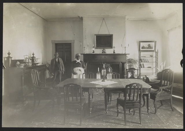 Bulloch Hall dining room, scene of marriage of President Roosevelt's parents