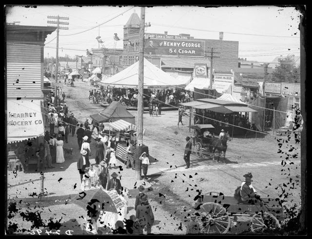 Carnival in the downtown area of Kearney, Nebraska.