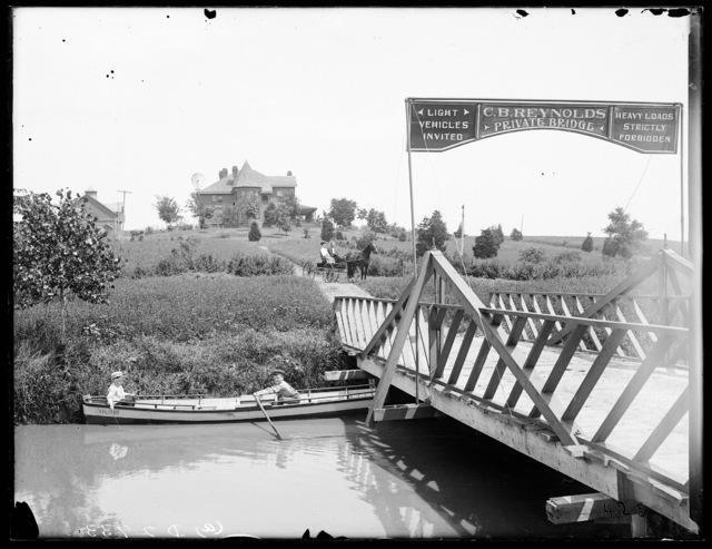 C.B. Reynolds Private Bridge leading to the Reynolds residence.  Kearney, Nebraska.
