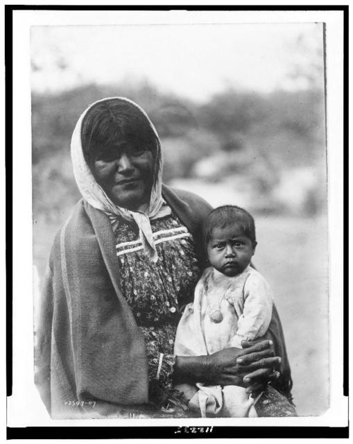 Chemehuevi mother and child