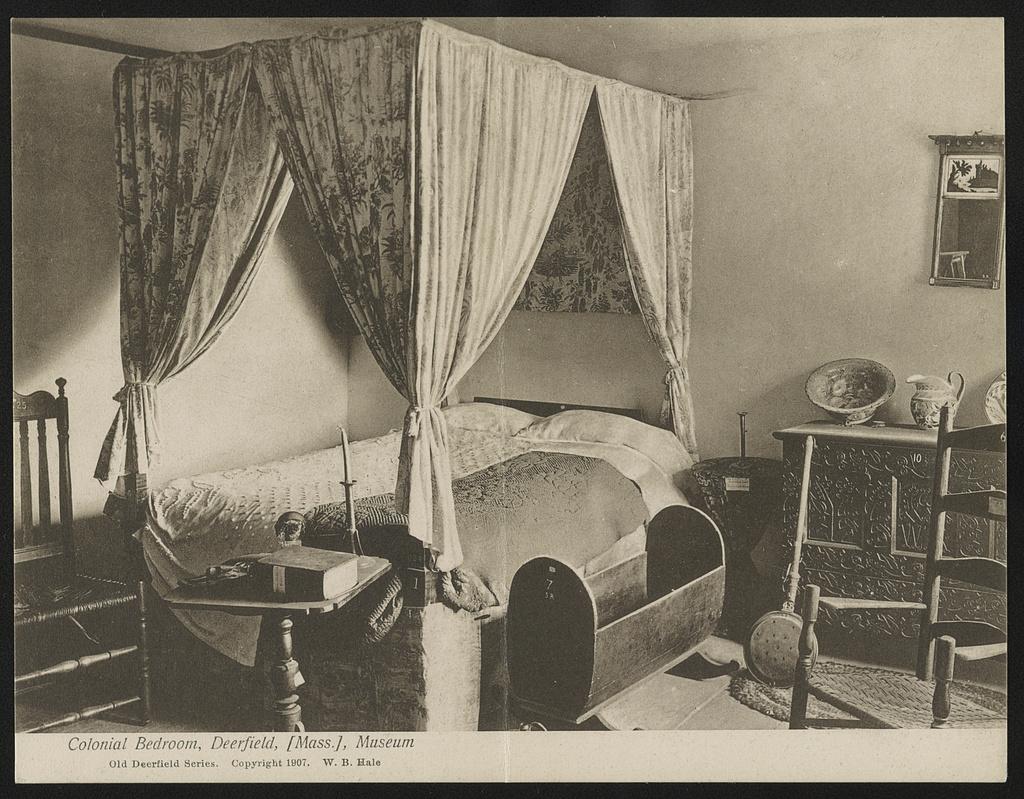 Colonial bedroom, Deerfield, Mass., museum