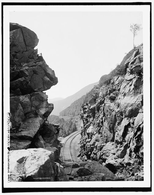 Crawford Notch from M.C.R.R. [Maine? Central Railroad] cut, White Mts., N.H.