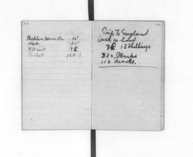 Diaries and Notebooks:  1907, Orville Wright