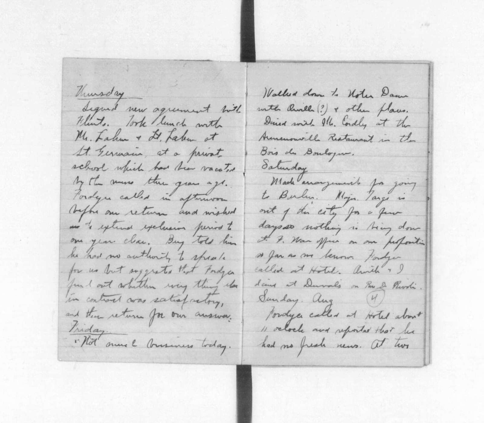 Diaries and Notebooks:  1907, Wilbur Wright