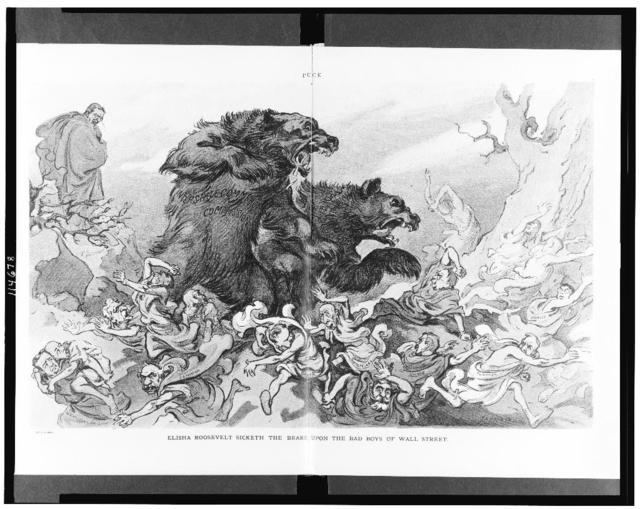 Elisha Roosevelt sicketh the bears upon the bad boys of Wall Street / Keppler.