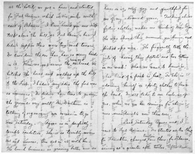 Family Papers:  Correspondence--Wright, Katharine, October-November 1907