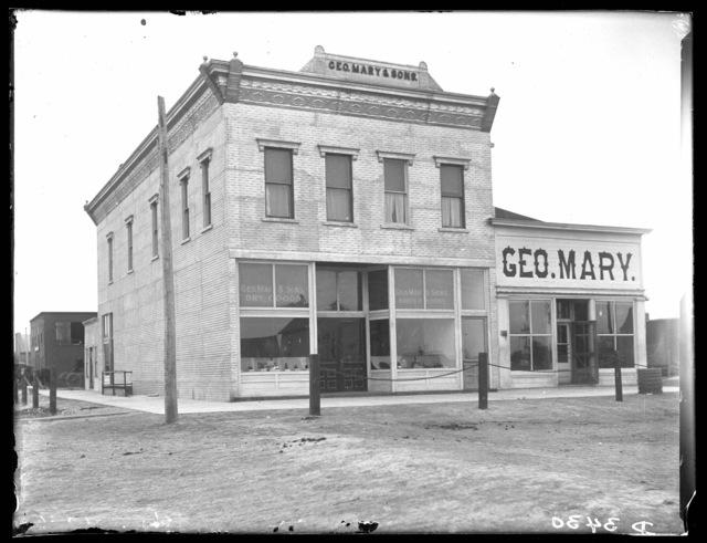 George Mary & Sons Dry Goods Store, Oconto, Custer County, Nebraska.