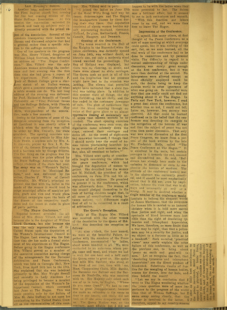 Hughes Censored in Resolutions, 39th annual New York State Woman Suffrage Association convention; page 2