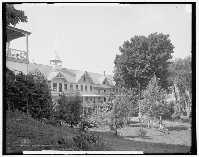 Hulett House and surroundings, Lake George, N.Y.