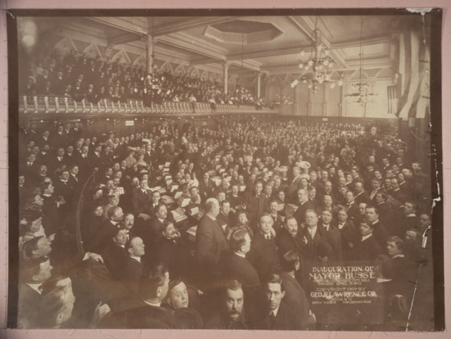 Inauguration of Mayor Busse, Council Chamber, City Hall, Chicago, April 15, 1907