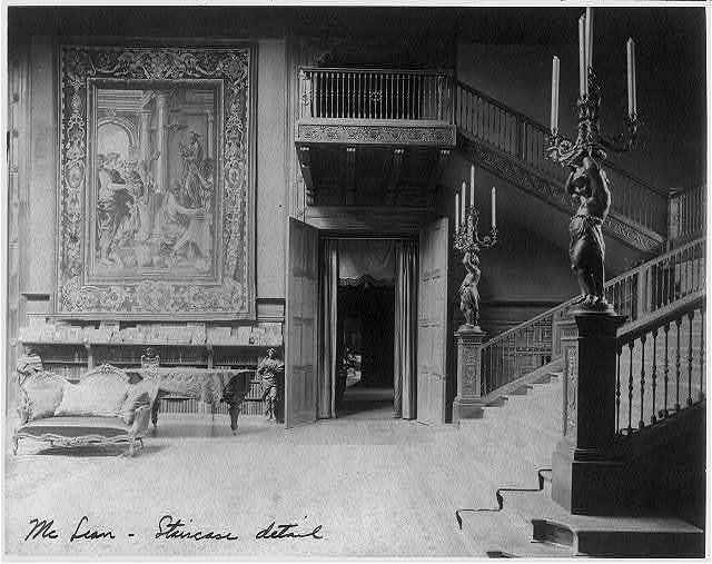 [Interior of John R. McLean House, 1500 I St., N.W., Washington, D.C. - staircase detail]