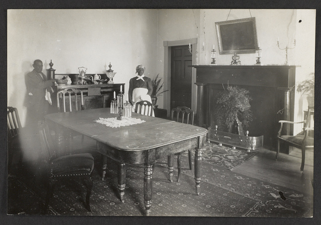[Interior view of Bulloch Hall dining room, scene of marriage of Theodore Roosevelt's parents]