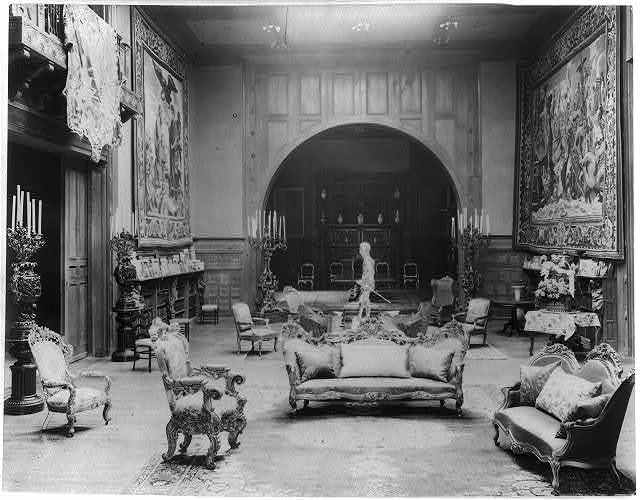 [Interiors of John R. McLean House, 1500 I St., N.W., Washington, D.C. - music room from staircase]