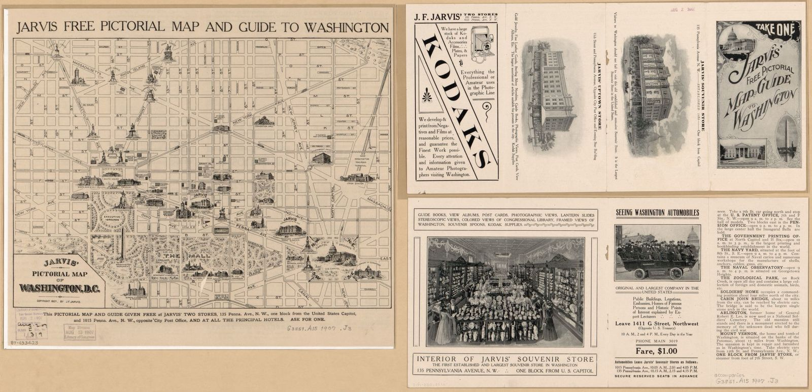 Jarvis Pictorial Map Of Washington D C Picryl