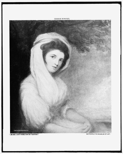 Lady Hamilton as Daphne