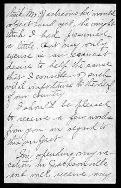 Letter from Hettie I. Patterson to Alexander Graham Bell, August 8, 1907