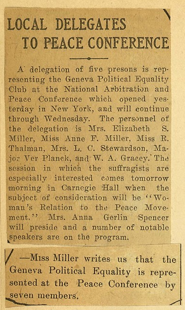 Local Delegates to Peace Conference