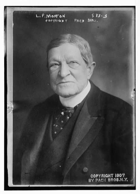 L.P. Morton, portrait bust, Pach Bros., N.Y. / Pach Bros.