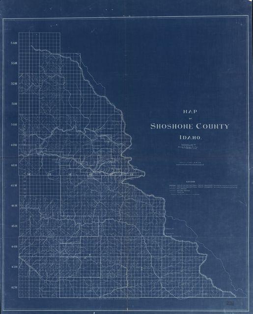 Map of Shoshone County, Idaho /