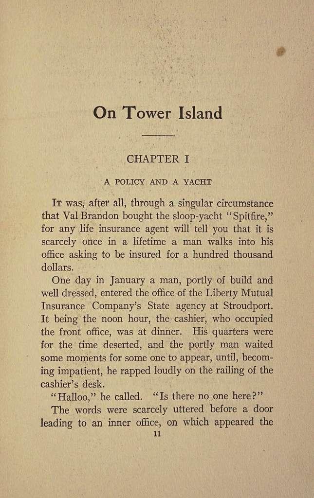 On Tower Island,
