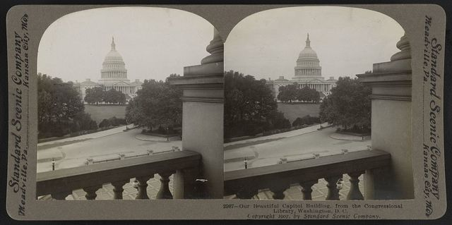 Our beautiful Capitol building from the Congressional Library, Washington, D.C.