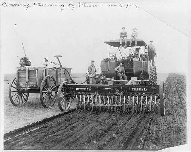 Plowing and seeding by steam in South Dakota