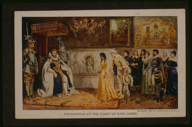 Pocahontas at the court of King James / Richard Rummels; American Colortype Co., N.Y.