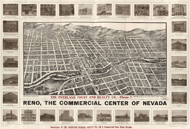 Reno, the commercial center of Nevada /