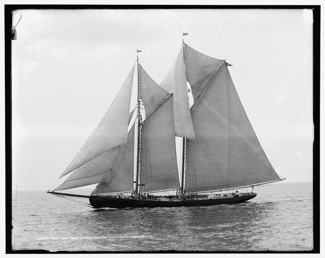 Rose Dorothea, winner of Lipton Cup, in first [?] Fishermen's Race