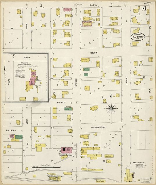Sanborn Fire Insurance Map from Albion, Noble County, Indiana.