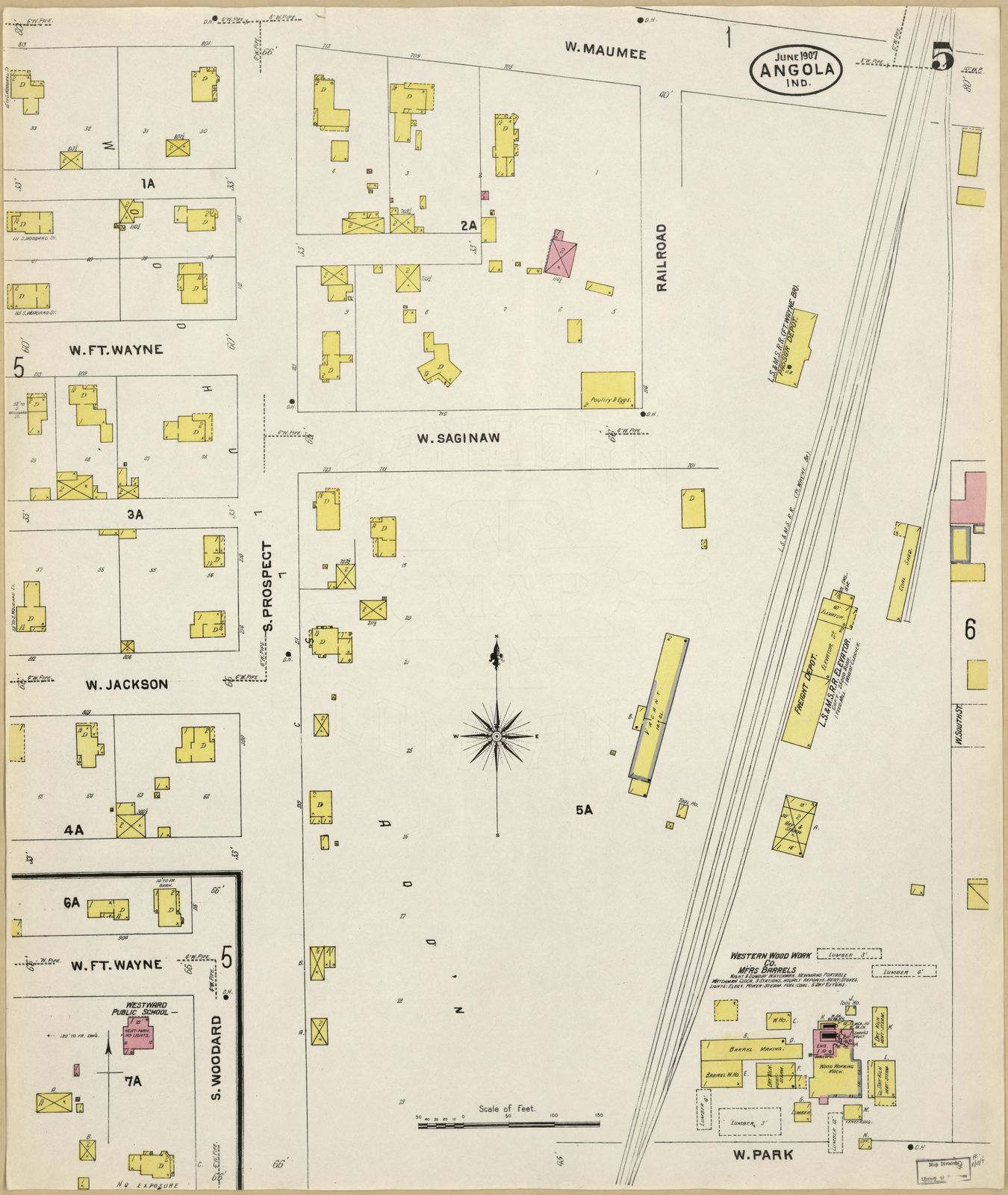 Steuben County Indiana Map.Sanborn Fire Insurance Map From Angola Steuben County Indiana