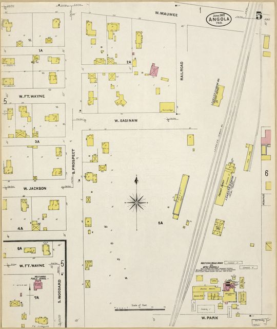 Sanborn Fire Insurance Map from Angola, Steuben County, Indiana.