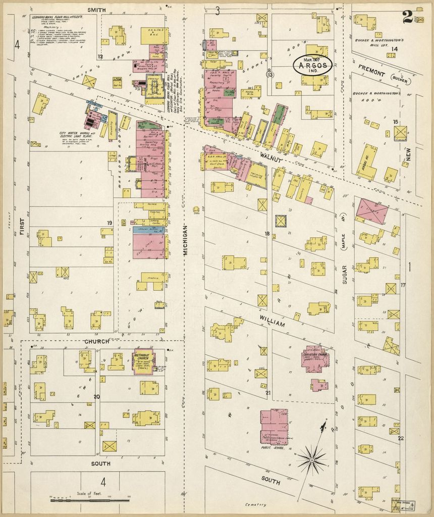Sanborn Fire Insurance Map From Argos Marshall County