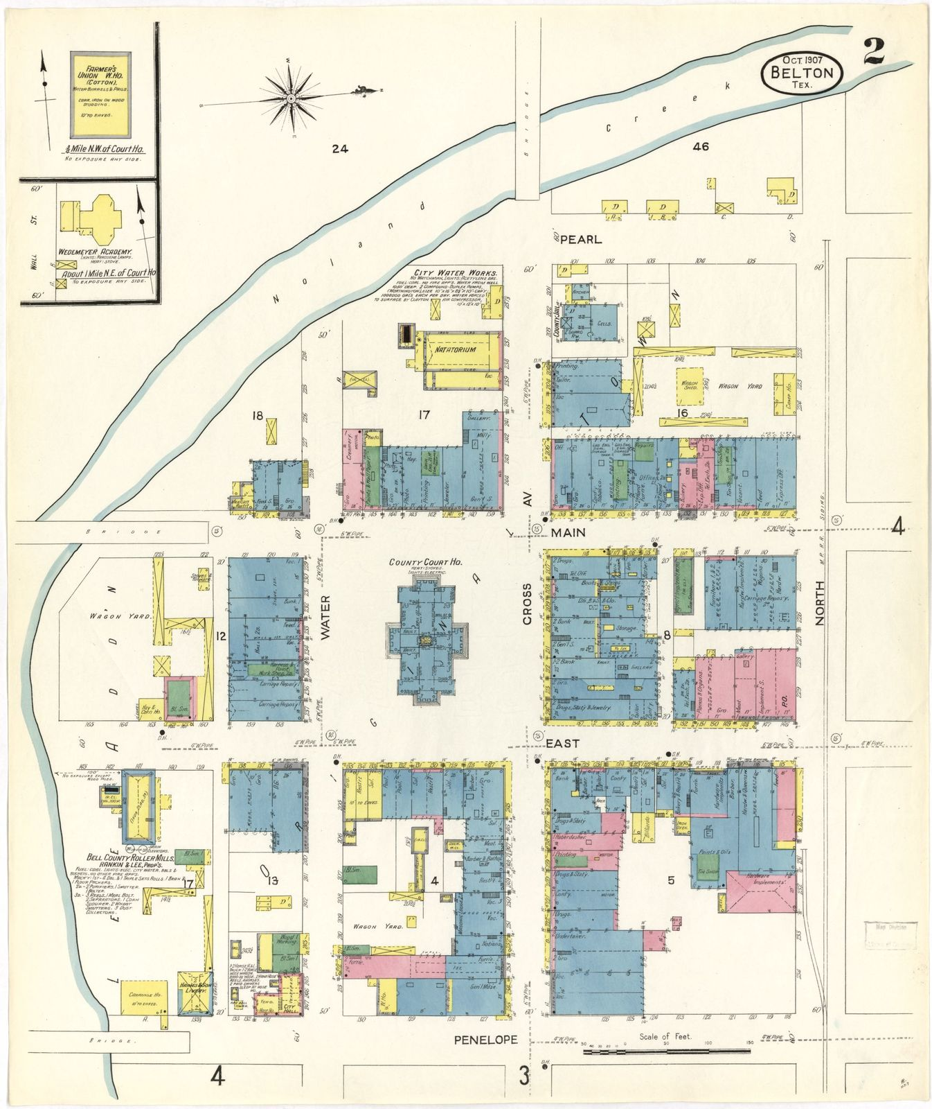 Sanborn Fire Insurance Map from Belton, Bell County, Texas  - PICRYL