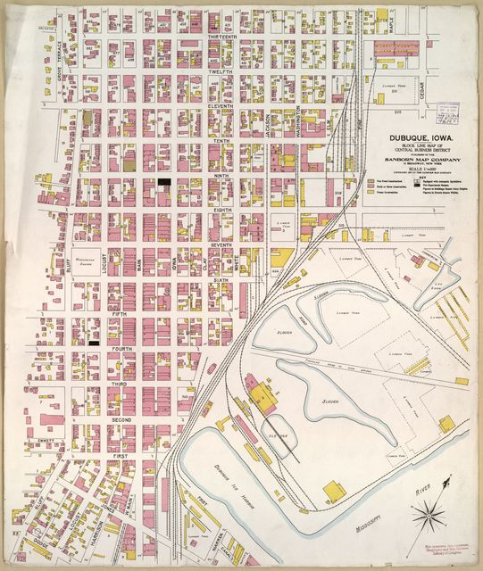 Sanborn Fire Insurance Map from Dubuque, Dubuque County, Iowa.