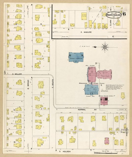 Sanborn Fire Insurance Map from Warrensburg, Johnson County, Missouri.