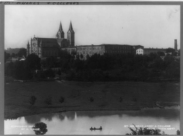 St. Meinrad Abbey & college from southwest