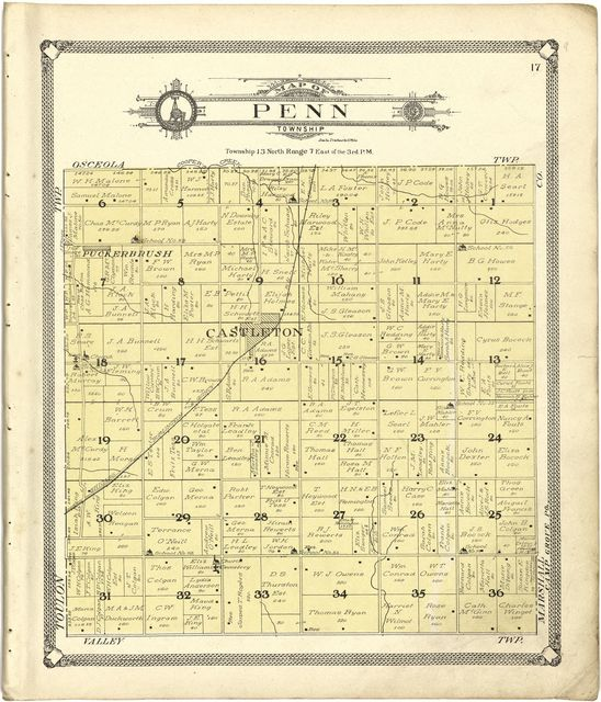 Standard atlas of Stark County, Illinois : including a plat book of the villages, cities and townships of the county, map of the state, United States and world : patrons directory, reference business directory and departments devoted to general information, analysis of the system of U.S. land surveys, digest of the system of civil government, etc. etc. /