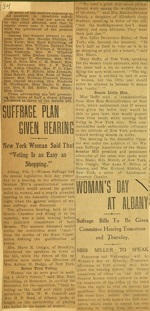 "Suffrage Plan Given Hearing; New York Woman Said That ""Voting Is as Easy as Shopping."""