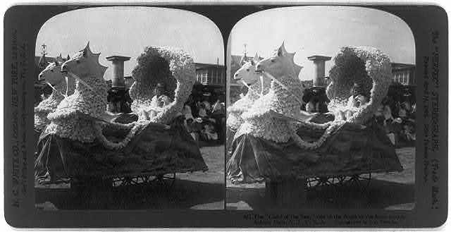 """The """"Child of the Sea,"""" one of the floats in the baby parade, Asbury Park, N.J."""