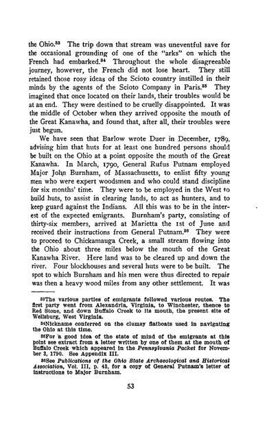 The Scioto speculation and the French settlement at Gallipolis. A study in Ohio Valley history,