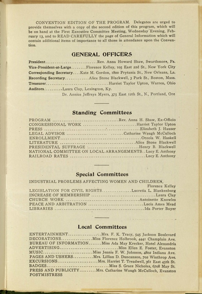 Thirty-Ninth Annual Convention of the National American Woman Suffrage Association,